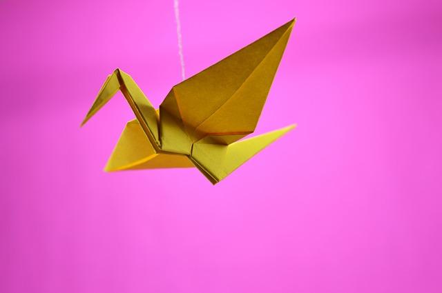 papírový ptáček
