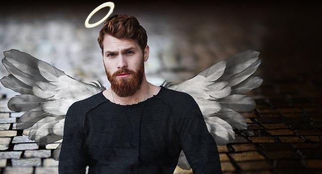 muž anděl